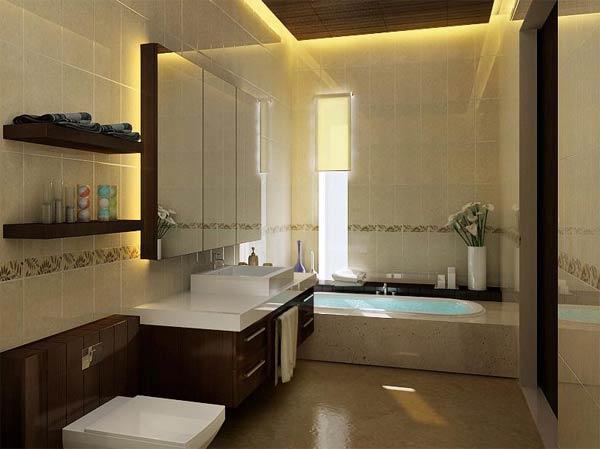 Bathroom in beige tile part 4 in bathroom tile design ideas on floor
