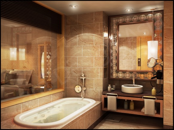 romantic brown bathroom ideas with classic design - Bathroom Classic Design