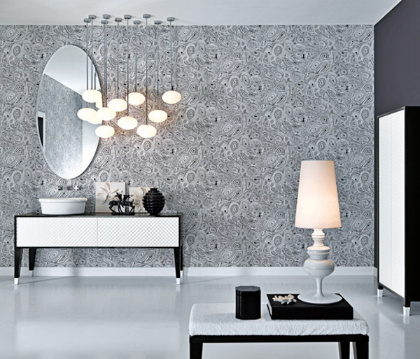 Bathroom Design Grey White