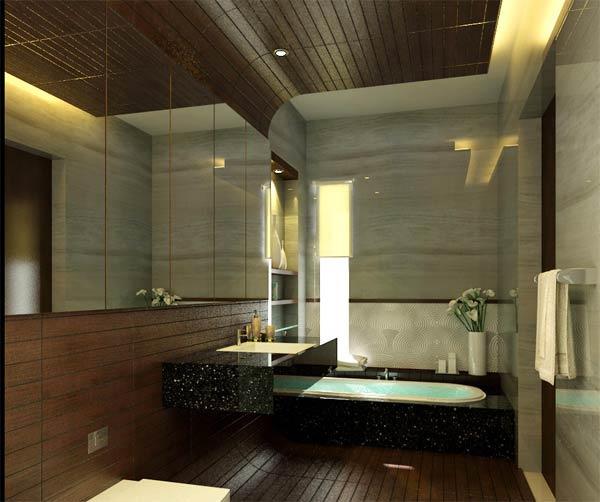 Bathroom In Grey Tile Part 3 Design