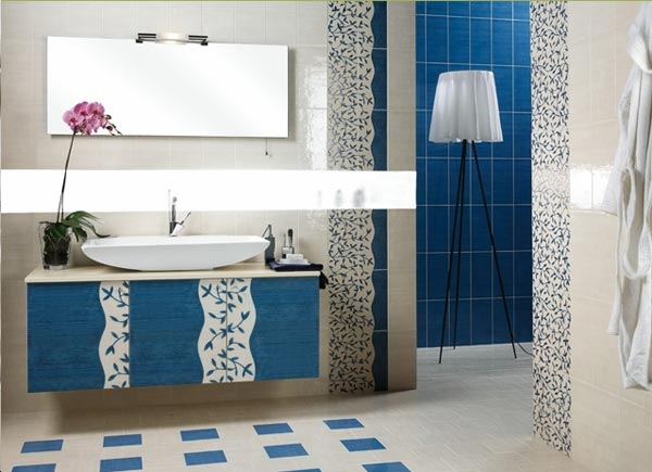 5 techniques to use blue color in bathroom tile design in - Color of tiles for bathroom ...