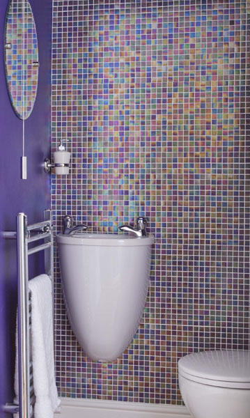 5 techniques to use blue color in bathroom tile design for Bathroom ideas mosaic tiles