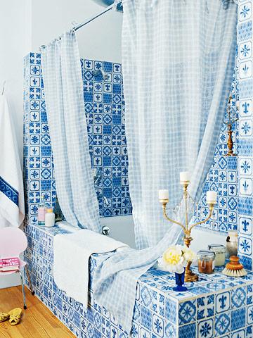 Use Blue Color In Bathroom Tile Design In Bathroom Tile Design Ideas