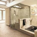 Shower in bathroom. Florim USA.
