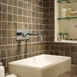 Washbowl in bathroom from Florim USA.