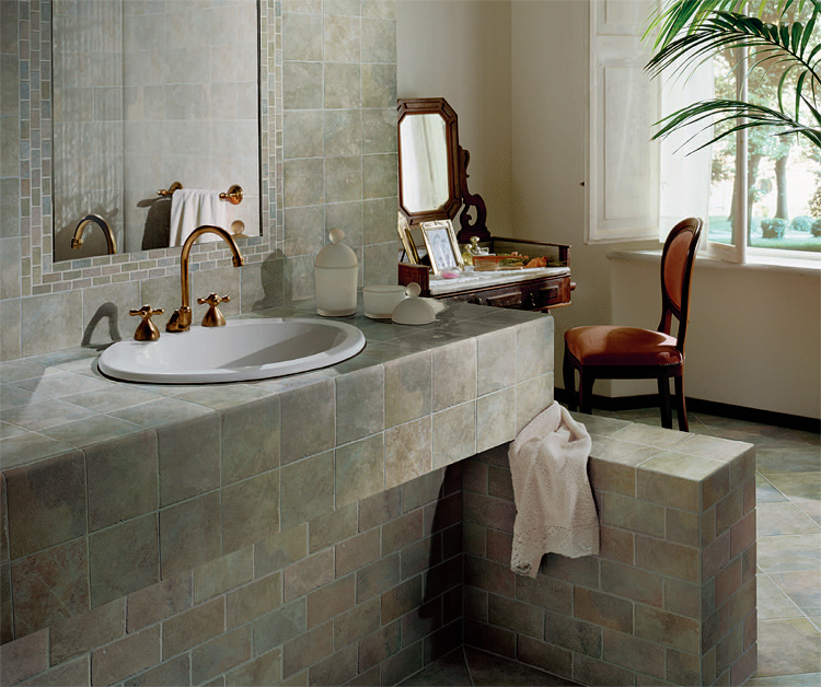 Bathroom tile designs from florim usa in bathroom tile for Bathroom designs usa