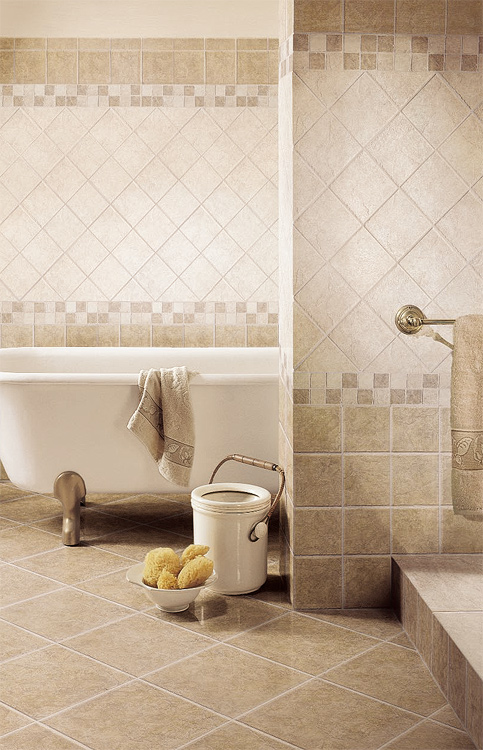 Bathroom tile designs from florim usa in bathroom tile for Bathroom floor tile ideas