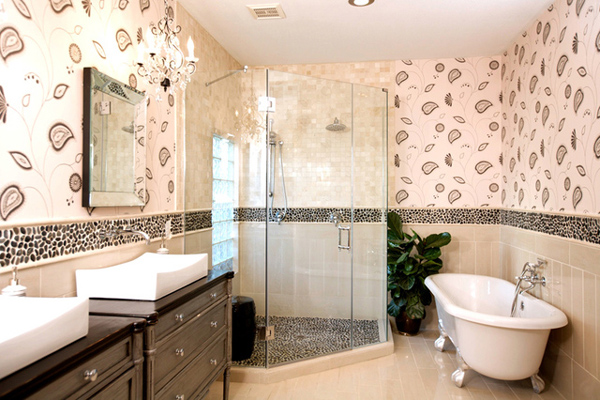 Bathroom in beige tile part 2 in bathroom tile design for Beige tile bathroom ideas