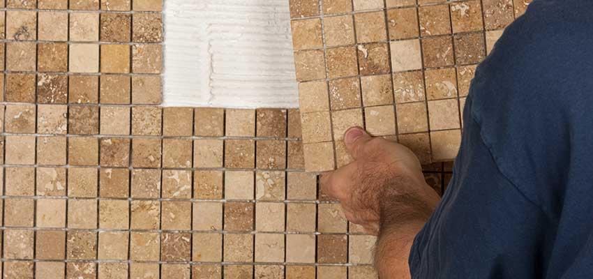 Vinyl tile backsplash install