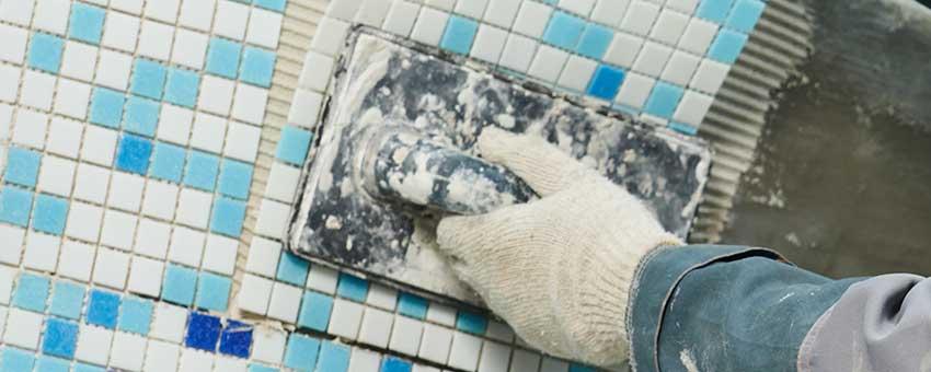 grouting tile after shower tile install
