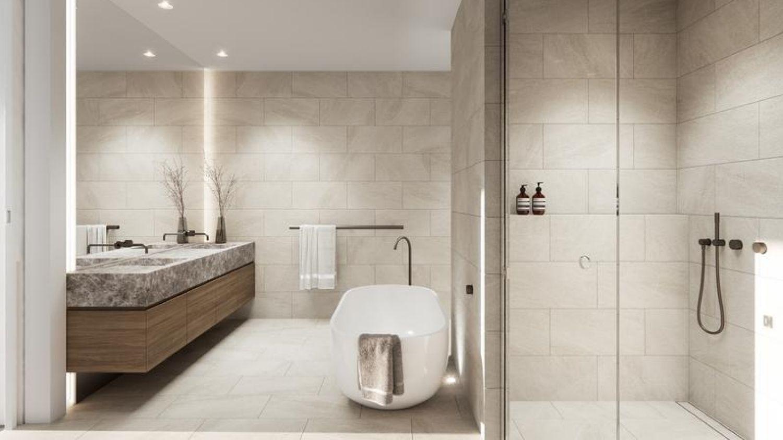 Luxurious Scandi-styled bathroom // conradarchitects.com