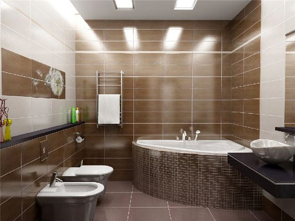 Bathroom in brown tile part 2 ftd company san jose for Bathroom designs companies