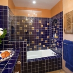bathroom in blue style tile