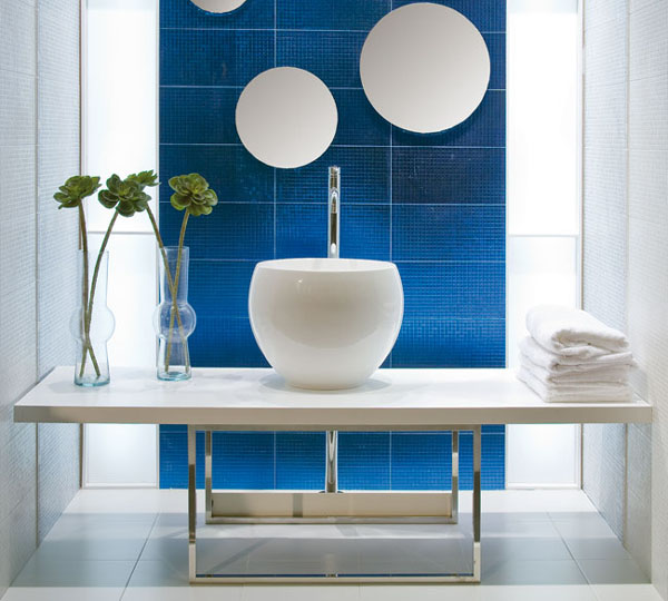 Excellent Techniques To Use Blue Color In Bathroom Tile Design In Bathroom Tile