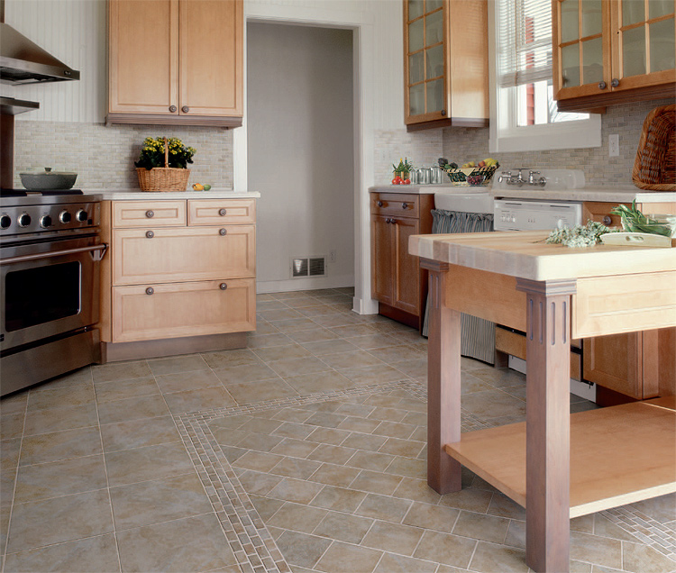 Kitchen tile design from florim usa ftd company san for Cheap kitchen flooring ideas