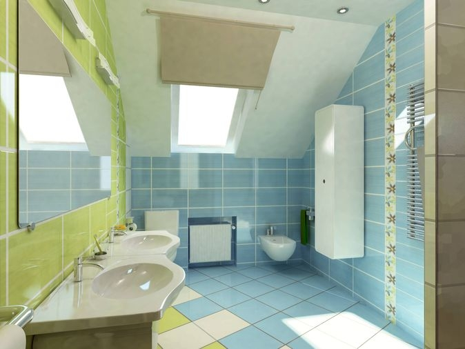 Green tile bathroom ftd company san jose california for Bathroom designs companies