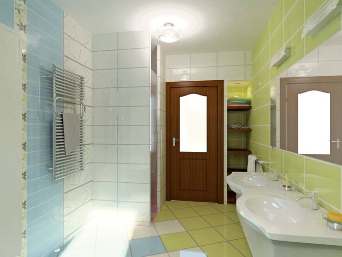 Green Tile Bathroom Ftd Company San Jose California