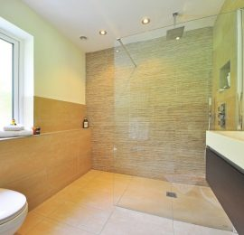 Bathroom in Beige Tile