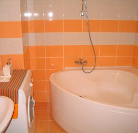 Orange Tile Bathroom
