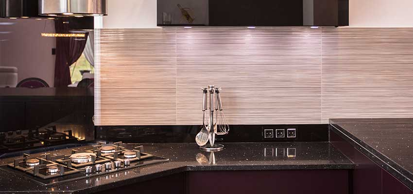 An inside look at vinyl tile backsplash