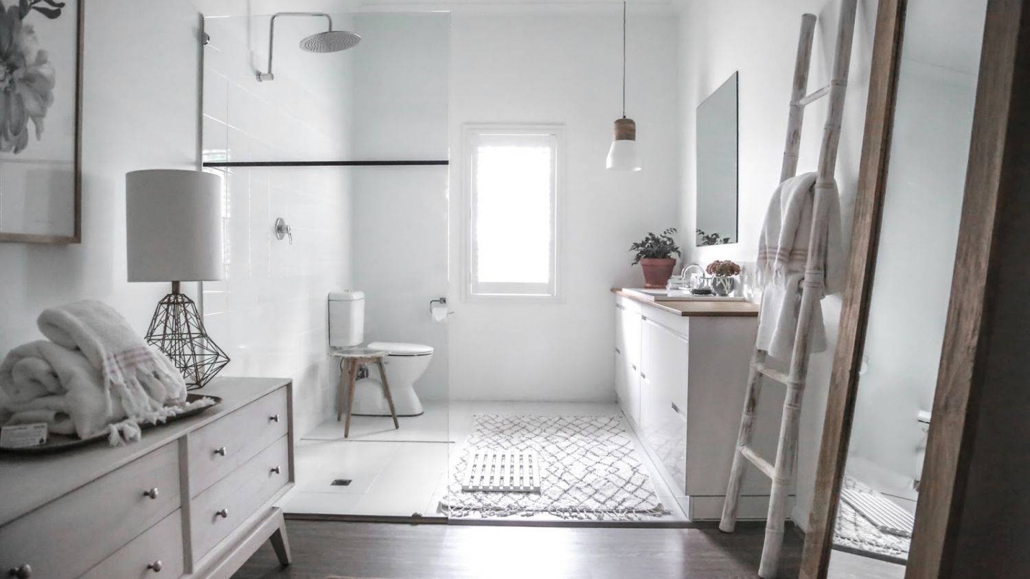 Modern Scandi-styled bathroom featured in a hotel // conradarchitects.com